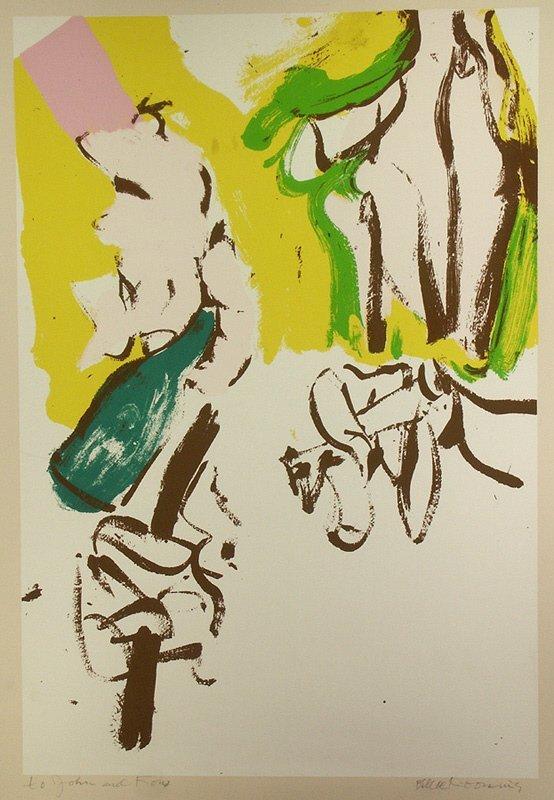 "8: signed Willem de Kooning (1904-1997) ""Beach"" Print"