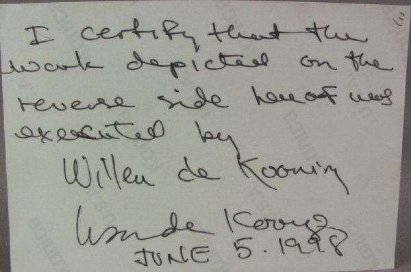 "8: signed Willem de Kooning (1904-1997) ""Beach"" Print - 7"