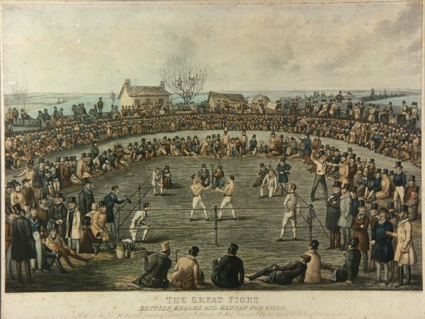 12: Great Fight of Broome & Hannen - Aquatint Engraving