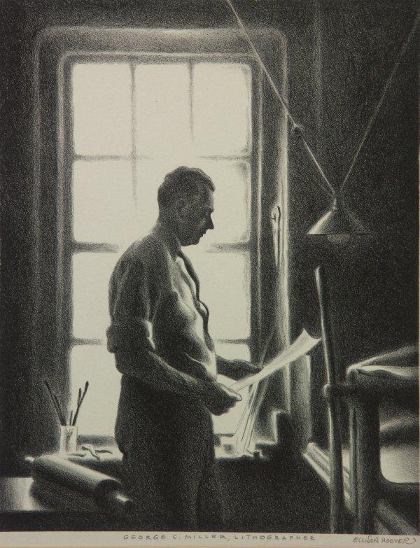 13:  signed Ellison Hoover (1888-1955) Lithograph Print