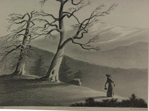 15: signed ELLISON HOOVER 1888-1955 Lithograph Print