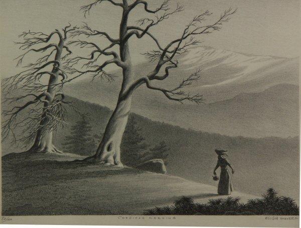 15: signed ELLISON HOOVER 1888-1955 Lithograph Print - 2