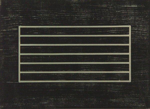19: original DONALD JUDD (1928-1994) Woodcut AP Print