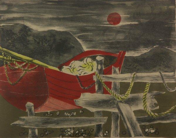 21: Julian Levi (1900-1982) Sailboat Artist Proof Print