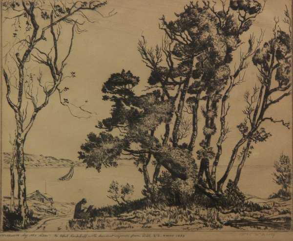 23: William McNulty (American 1884-1963) Willows Print
