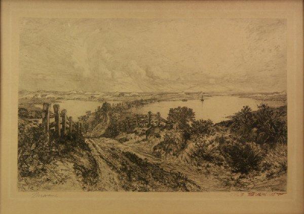 24: Thomas Moran (1837-1926)  East Hampton, NY  Etching