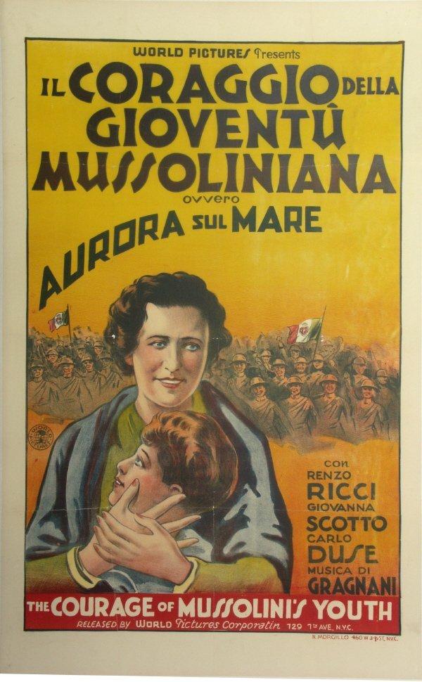 59: MUSSOLINI Old 1930s ITALIAN Propaganda Movie Poster