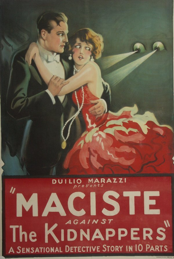 65: Maciste Against the Kidnappers 1920's Movie Poster  - 2