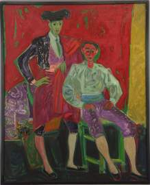 75: Roger Bezombes (French, 1913-1994) o/c Oil Painting