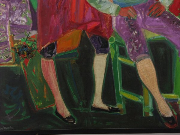 75: Roger Bezombes (French, 1913-1994) o/c Oil Painting - 5