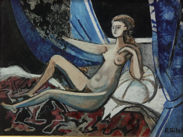 98: sg. Francoise Gilot  (French 1921-  ) Nude Painting