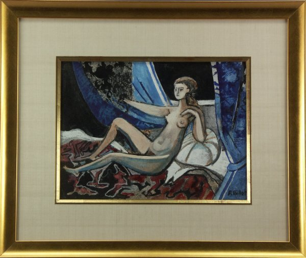 98: sg. Francoise Gilot  (French 1921-  ) Nude Painting - 2
