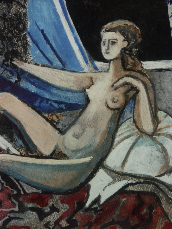 98: sg. Francoise Gilot  (French 1921-  ) Nude Painting - 3