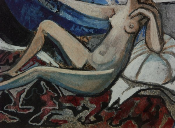 98: sg. Francoise Gilot  (French 1921-  ) Nude Painting - 4