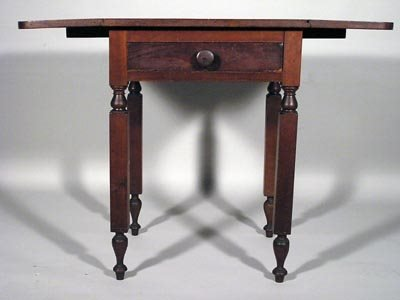7: Sheraton 19C Cherry NY One Drawer Drop Leaf Stand