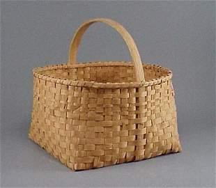 Old Hickory Splint Handled Basket with Square Bottom