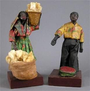 Old Black Figure CottonPicker Watermelon Man Lady 2