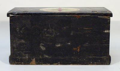 22: Pennsylvania Dutch 19C. Painted Pine Tool Chest - 5