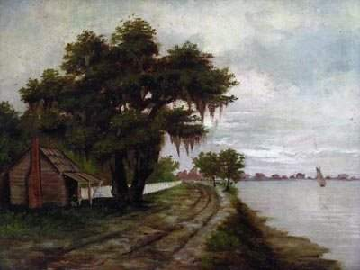 67: C. Castellanos Mellen  Louisiana Bayou Painting