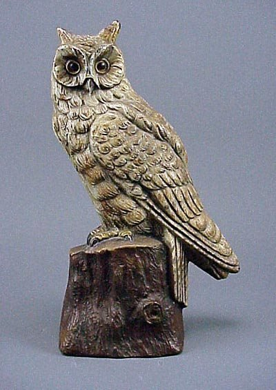 174: Old Rare Vintage Cast Iron Owl Doorstop Door Stop