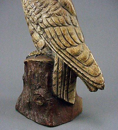 174: Old Rare Vintage Cast Iron Owl Doorstop Door Stop - 5
