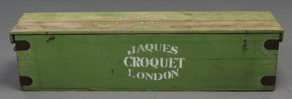 7: Jaques London Heath Surrey Antique Croquet Set w Box - 3