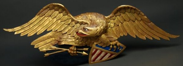 50: Carved Eagle & Shield - Boston Artistic Carving Co