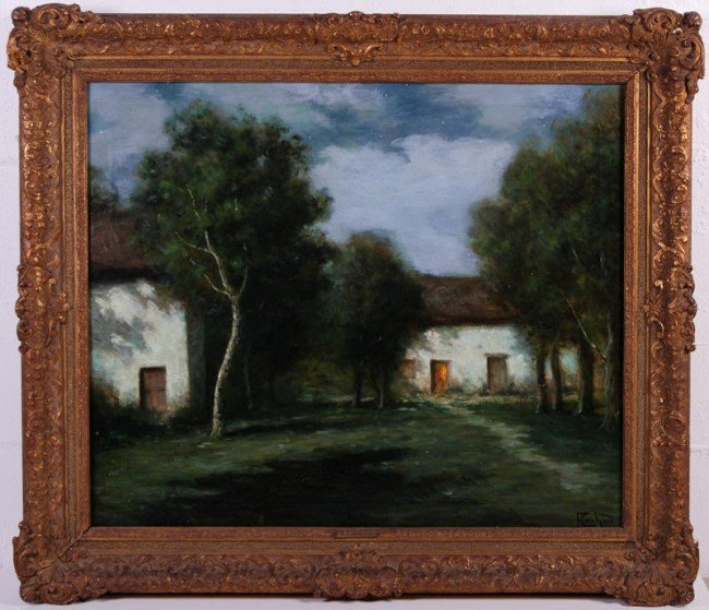 8: Francois C. Cachoud (1866-1943) French Oil Painting