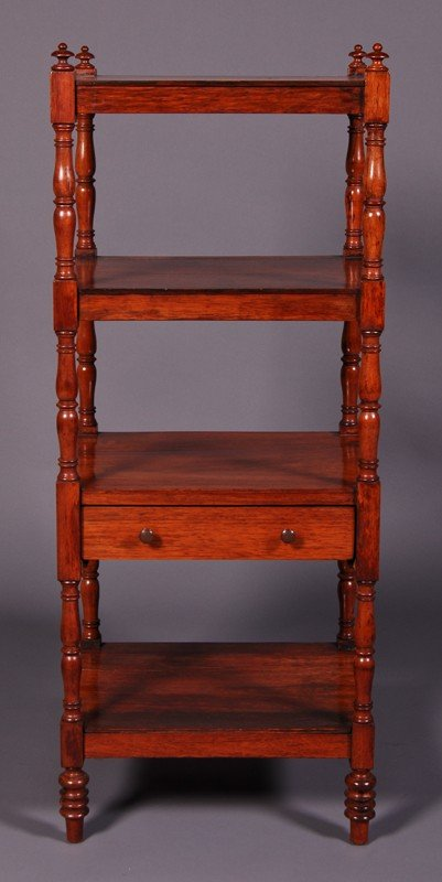 12: English 19C Mahogany Antique Shelf - Etagere