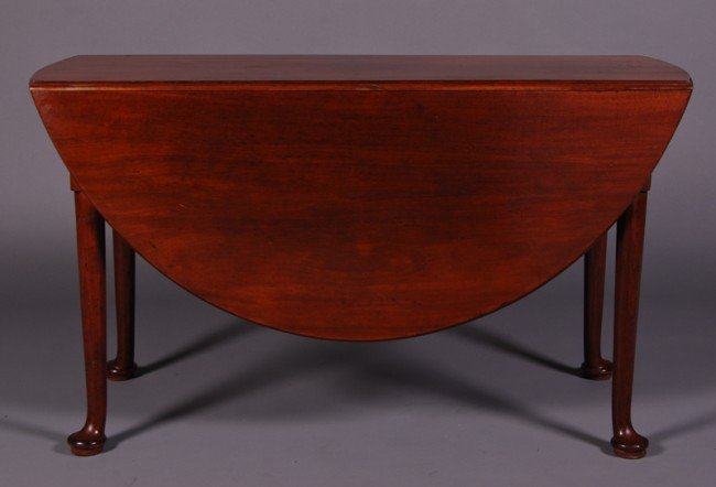 23: English 19thC Mahogany Queen Anne Drop Leaf Table