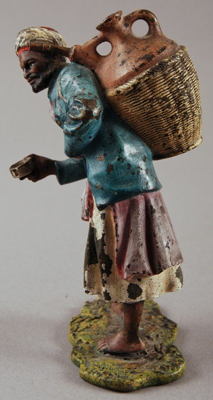 41: Austrian Cold Painted Bronze of Arab Water Seller
