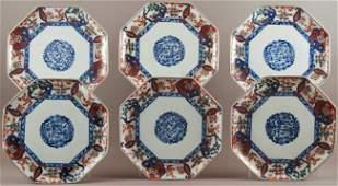 60: Set of Six Japanese Imari Porcelain Plates