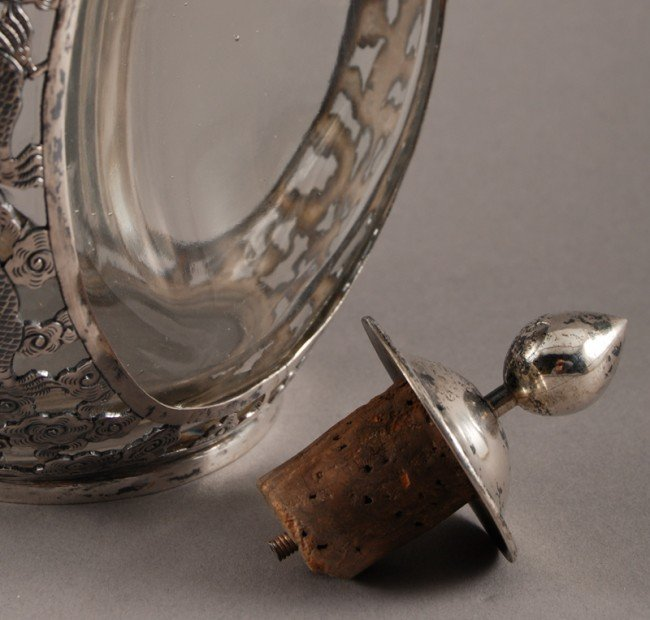 186: Pair of Chinese Silver Overlay Haig Pinch Bottles - 6