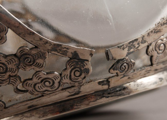 186: Pair of Chinese Silver Overlay Haig Pinch Bottles - 8