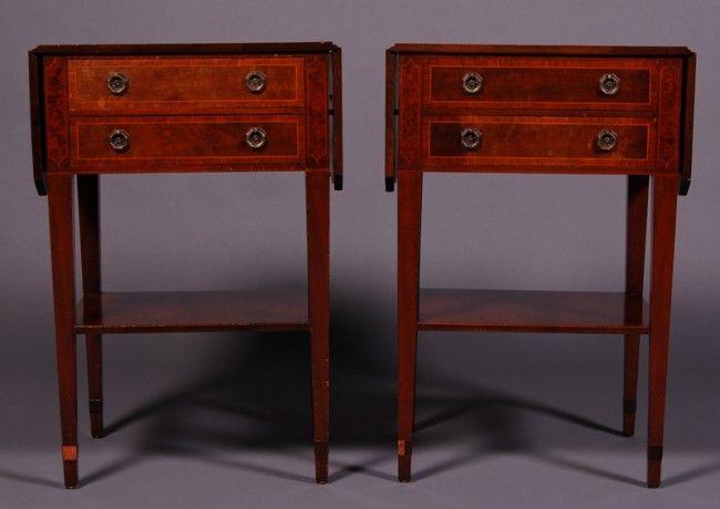 Regency Style Schmieg Kotzian Dropleaf Tables