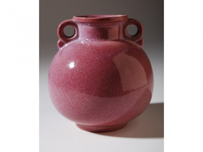 2: Classic Frankoma Pottery Art Deco Ball Form Vase