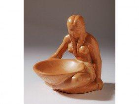 3: Indian Maiden - Frankoma Art Pottery Deco Tray