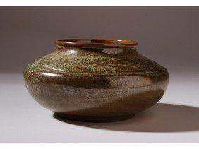 6: Signed Frankoma Art Deco American Art Pottery Vase