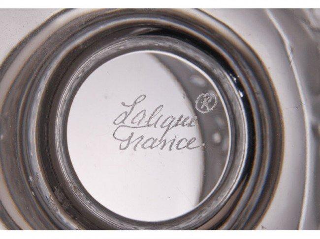 10: Lalique French Art Glass Doves Bird Vase - 3