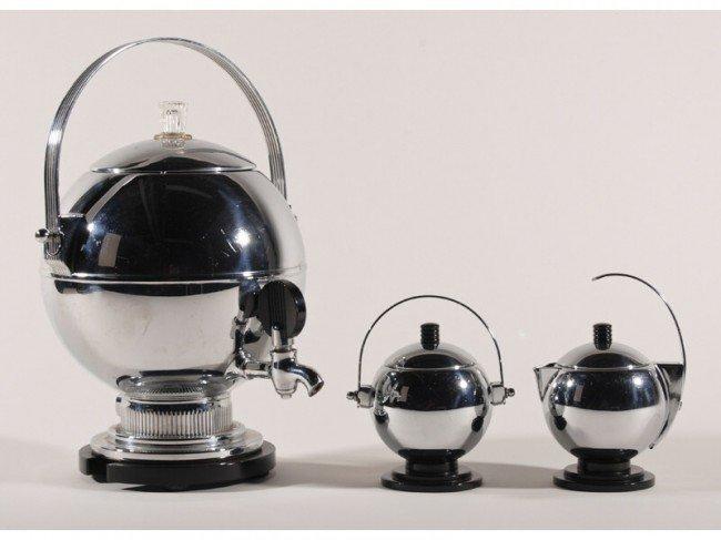 20: Art Deco Manning - Bowman Chrome 3-pc. Coffee Set