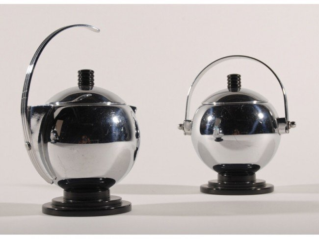 20: Art Deco Manning - Bowman Chrome 3-pc. Coffee Set - 3