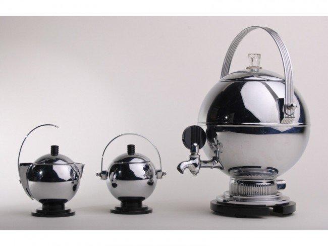 20: Art Deco Manning - Bowman Chrome 3-pc. Coffee Set - 6