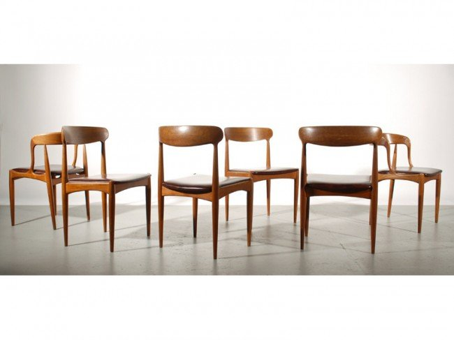 59: Set of 6 Teak Danish Chairs by Johannes Andersen