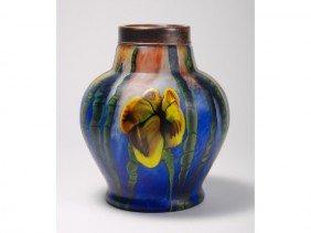 Kralik Floral Art Modern Glass Vase Bronze Mount