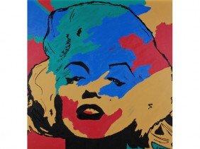 S. Nero Marilyn Monroe - Warhol Inspired Painting