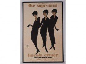 Original 1965 Supremes Litho Concert Poster
