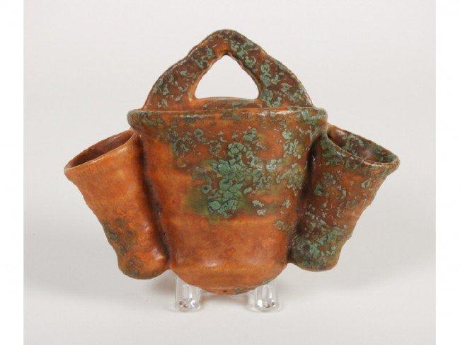 154: Roseville Imperial II Triple Pottery Wall Pocket