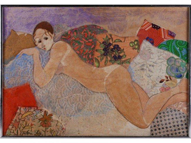 159: Sylvia Fox - Modern Nude Collage Painting