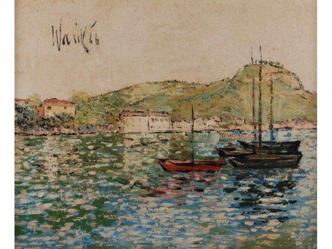 161: Warik Wheatley 1928-1996 American o/c Oil Painting