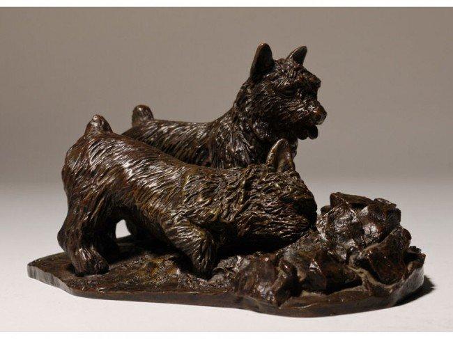 175: Bronze Audrey Fournier Scotty Art Deco Sculpture